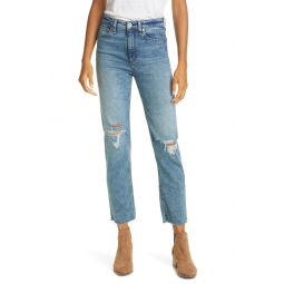 Nina Ripped High Waist Ankle Cigarette Jeans