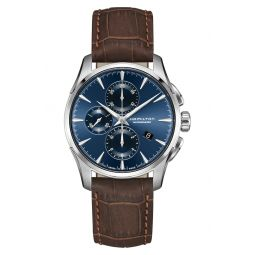 Jazzmaster Multifunction Automatic Leather Strap Watch, 42mm