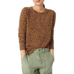 Leopard Dot Cashmere Crewneck Sweater