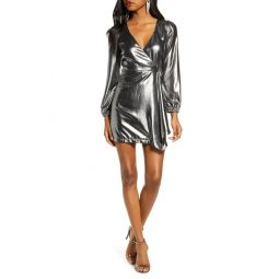 Metallic Long Sleeve Dress