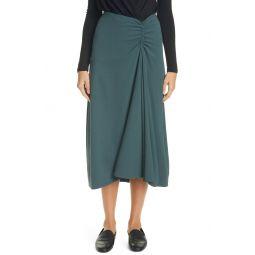 Ruched Asymmetrical Skirt