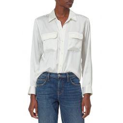 Signature Silk Button Up Silk Shirt