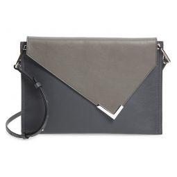 Tryne Colorblock Leather Shoulder Bag