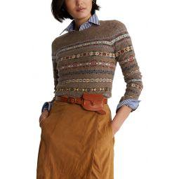 Fair Isle Wool & Cashmere Sweater