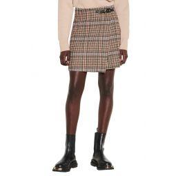 Buckle Detail Tweed Skirt