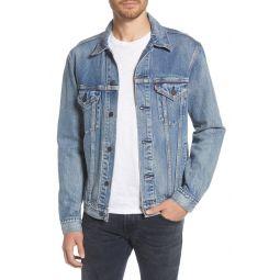Vintage Fit Denim Trucker Jacket