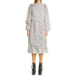 Long Sleeve Georgette Midi Dress