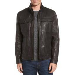 Washed Leather Trucker Jacket