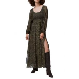 Aury Smocked Long Sleeve Maxi Dress