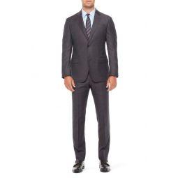 G Line Trim Fit Melange Check Wool Suit