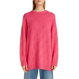 Tonal Logo Jacquard Cotton Sweater