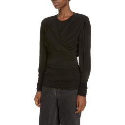 Ruched Jersey Drape Top