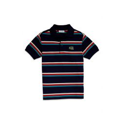 Stripe Summer Badge Polo