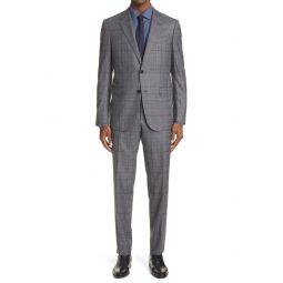 Milano Glen Plaid Wool Suit