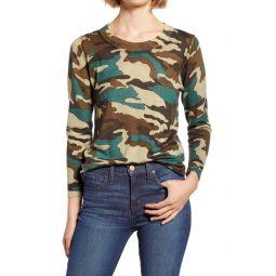 Camo Print Merino Wool Sweater
