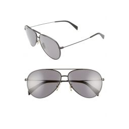 61mm Polarized Aviator Sunglasses