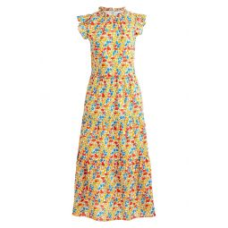 Liberty Poppy & Daisy Print Tiered Dress