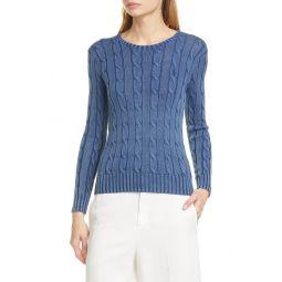Juliana Cable Knit Cotton Sweater