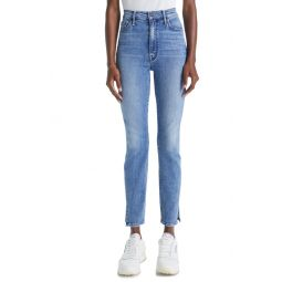 The Swooner Split Hem Ankle Skinny Jeans