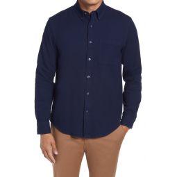 Standard Fit Knit Button-Down Shirt