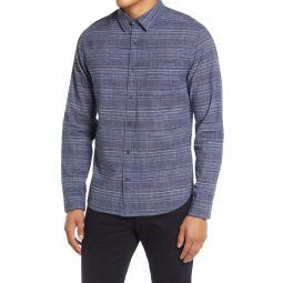 Mini Grid Slim Fit Button-Up Shirt