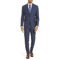 Konan Trim Fit Check Wool Suit
