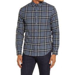 Slim Fit Plaid Button-Down Flannel Shirt