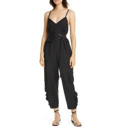 Belted Tropical Jumpsuit