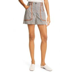 Amnesia High Waist Plaid Shorts