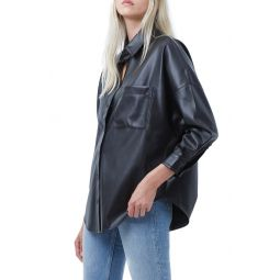 Rhodes Faux Leather Shirt