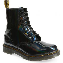 Black Rainbow Patent Leather Boot