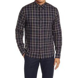 Slim Fit Window Plaid Button-Down Shirt