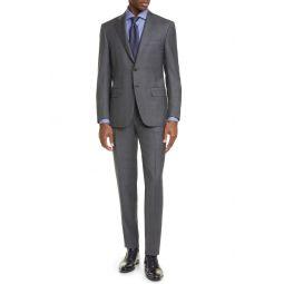 Siena Soft Classic Fit Glen Plaid Wool Suit