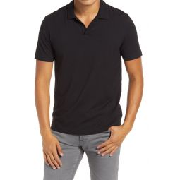 Willem Flame Short Sleeve Slub Jersey Polo