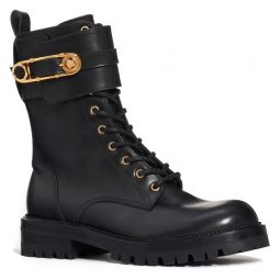 Safety Pin Combat Boot