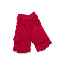 pointy bow pop top mittens