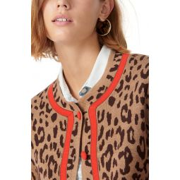 Leopard Tipped Sweater Jacket