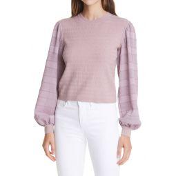 Woven Sleeve Sweater