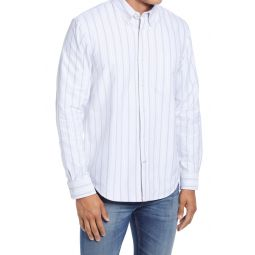 Slim Fit Stripe Button-Down Oxford Shirt