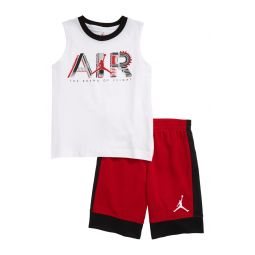 Air Graphic Muscle Tee & Shorts Set