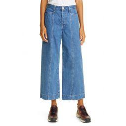 Maya High Waist Ankle Wide Leg Jeans