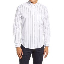 Slim Fit Stripe Button-Down Shirt