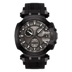 T-Race Chronograph Silicone Strap Watch, 48mm