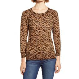 Leopard Print Merino Wool Sweater