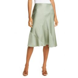 Textured Midi Slip Skirt