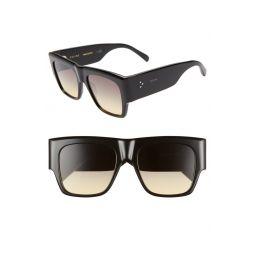 Special Fit 53mm Gradient Flat Top Sunglasses