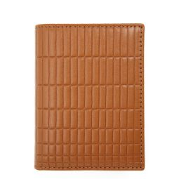 Brick Embossed Leather Card Case