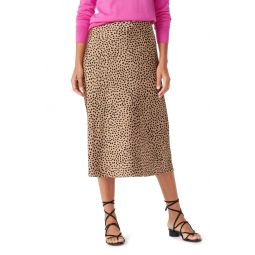 Leopard Dot Pull-On Slip Skirt
