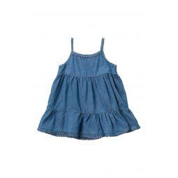 Tiered Indigo Dress