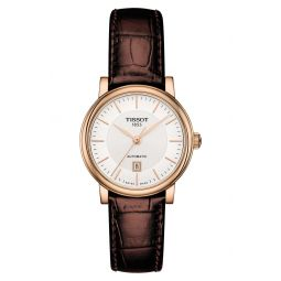 Premium Carson Automatic Leather Strap Watch, 30mm